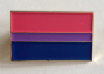 Bisexual Pride Flag Rectangular Enamel Pin Badge
